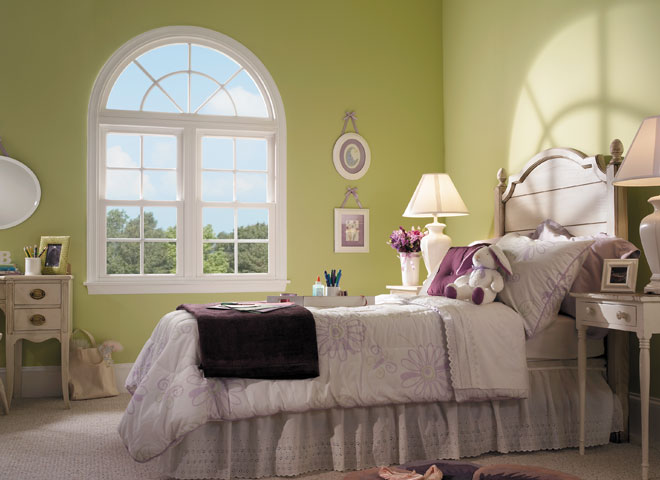 encompass by pella bedroom two windows with arch head